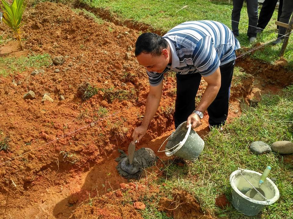 Peletakan Batu Pertama Mushola Al-Ikhlas