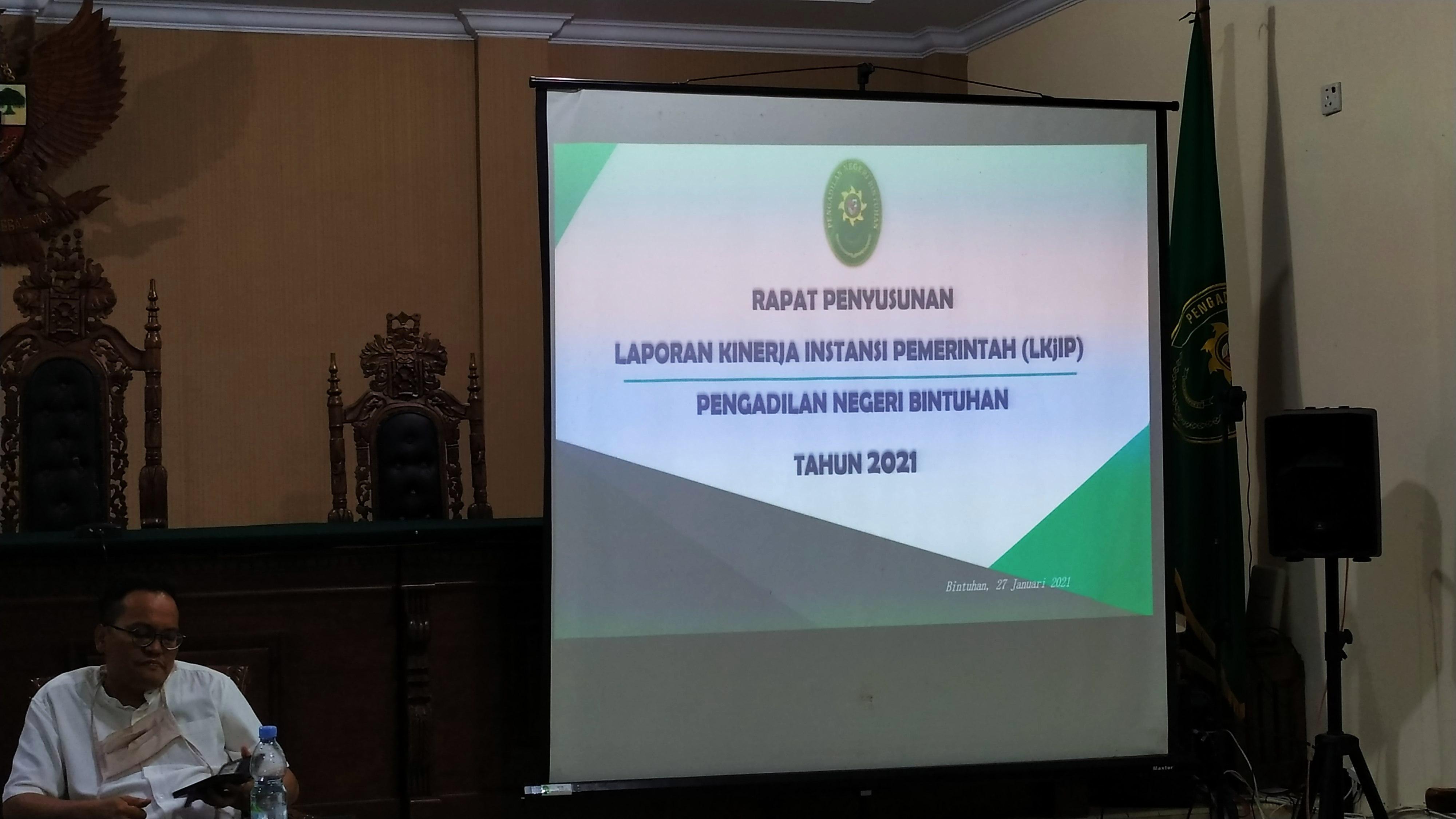 Rapat Penyusunan Laporan Kinerja Instansi Pemerintah (LKjIP) Tahun 2021