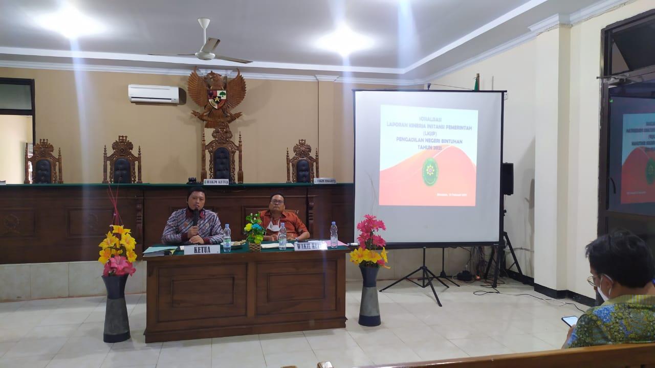 Rapat Bulanan Rutin 2021 dan Sosialisasi PERMA No. 5 Tahun 2020 dan PERMA No. 6 Tahun 2020