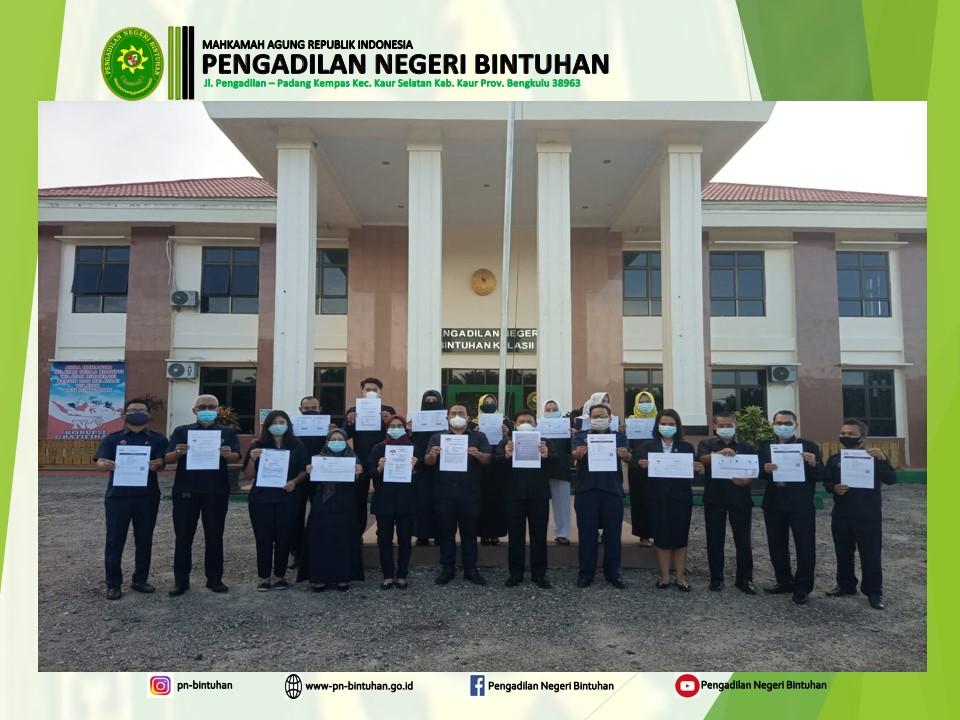 Para Pegawai Pengadilan Negeri Bintuhan Telah Melaksanakan Kewajiban Pengisian LHKPN dan LHKASN