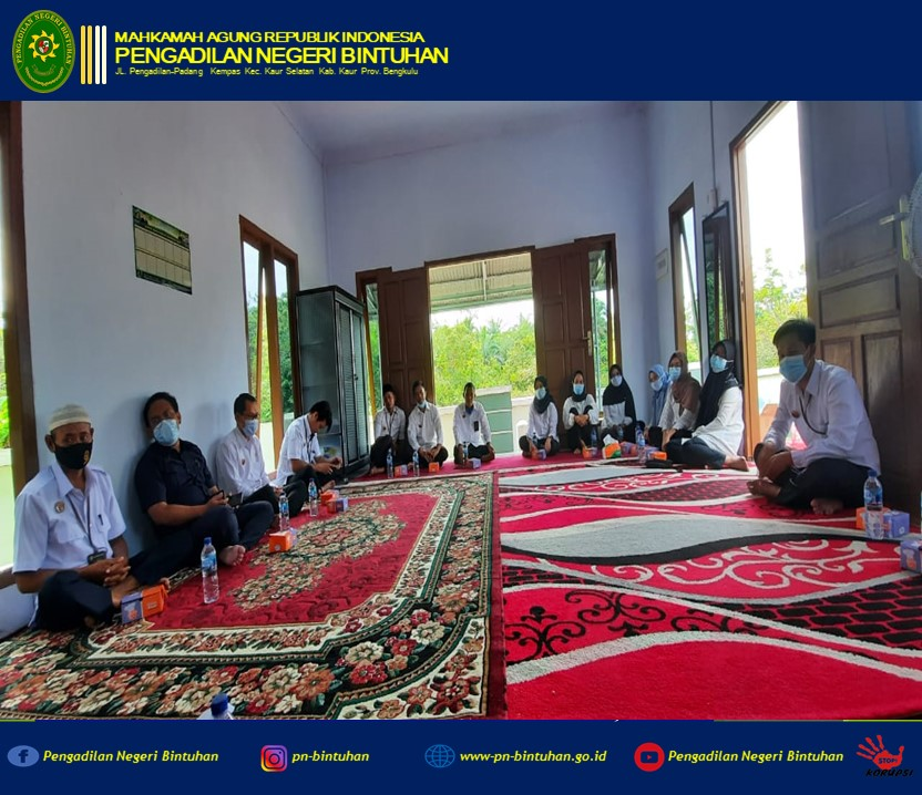 Dalam menyambut bulan suci Ramadhan 1442 H, Pengadilan Negeri Bintuhan mengadakan acara Pengajian Rutin