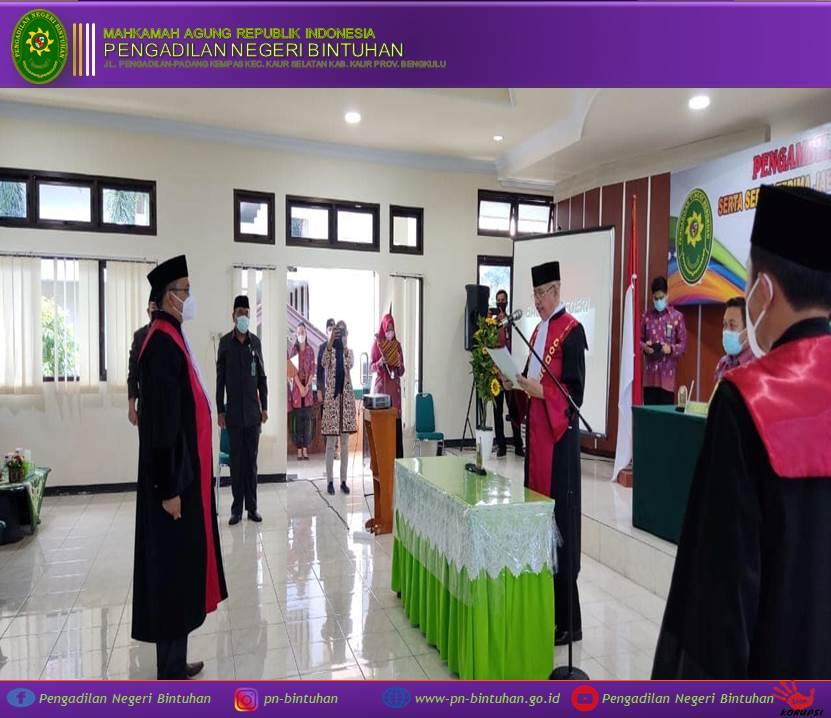 Pelantikan dan Serah Terima Jabatan Ketua Pengadilan Negeri Bintuhan Bapak Adil Hakim, S.H., M.H