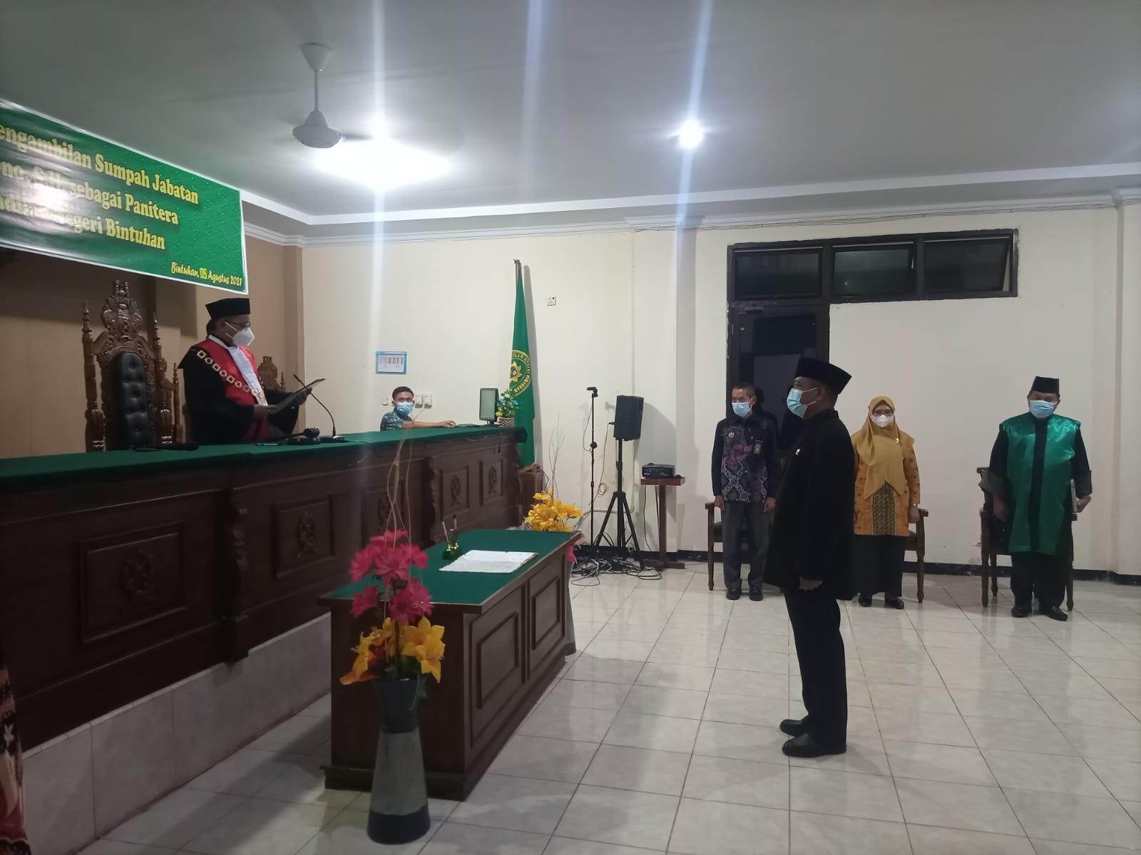 Pelantikan dan Pengambilan Sumpah Jabatan Panitera Pengadilan Negeri Bintuhan